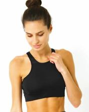 Simple as ABC Sports Bra Racerback Athletic Workout Performance Clasp-free Black
