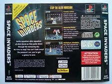 *BACK INLAY ONLY* Space Invaders Back Inlay  PS1 PSOne Playstation