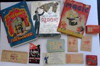 3 Vtg MAGIC Books Peter Rabbit  2 Block Puzzles 6 Tricks 1 Booklet Lot! 1940's