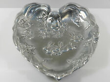 Arthur Court Large Heart Shaped Rabbit Design Aluminum Platter early 1990s