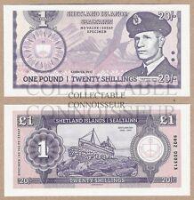 Scotland - Shetland Islands 20 Shillings 2015 UNC SPECIMEN Test Note Banknote