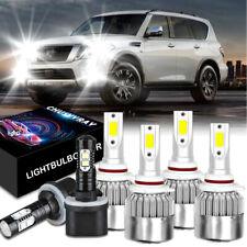 6x Combo For Nissan Armada 2005-2010 9005 9006 LED Headlight 880 Fog Light Bulbs
