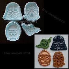 Star Wars cookie cutter with stamp 4 pieces set. Cortador Guerra de las Galaxias