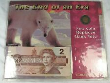 """1926 Canadian """"The End of an Era"""" Coin Bank Note Set. CANADA.  #47"""