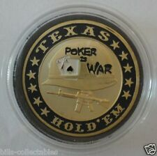 POKER IS WAR gold color Poker Card Guard Cover