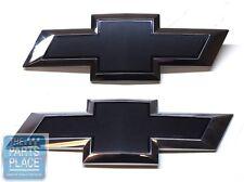 2014-15 Chevrolet Silverado Black Bowtie Grille & Tailgate OEM Emblems