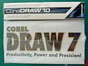 Corel Draw 7 Graphics Suite Factory Sealed + Corel Draw 10 Upgrade for PC