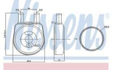 NISSENS Radiador de aceite, aceite motor RENAULT KANGOO 19 OPEL ANTARA 90704
