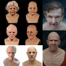 The Elder Man Headgear Masquerade Halloween Realistic Face Mask Party Cosplay