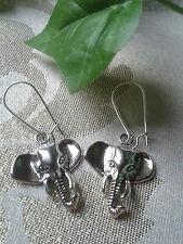 schöne Elefanten Ohrringe Elefant Kopf Metall Silber Tier Afrika Damen Geschenk
