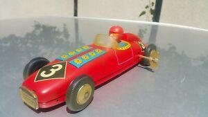 VINTAGE CAR RACER N3 FORMULA WIND UP TOY GERMANY GDR DDR JAPAN ORIG. KEY WORKS