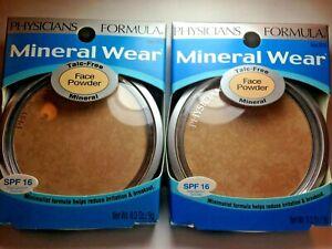Lot(2) Physicians Formula Mineral Wear Talc-Free Mineral Face Powder, BEIGE#3836