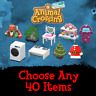 Animal Crossing:New Horizons | Choose Any 40 Items Slots Furniture Clothing NMT