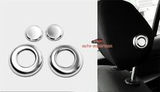 2 pair Chrome Front seat Headrest Switch cover trim BMW F30 F31 F34 3 4 Series