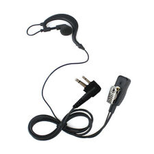 Security G-Shape Headset/Earpiece Mic For Motorola Radio Walkie Talkie 2 Pin UK