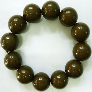 Elasticated Olive Green Brown Bracelet Wristband Bangle Womens Ladies Jewellery