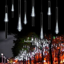 8 Falling Rain Drop/icicle Snow Fall String LED Xmas Tree Cascading Light Decor