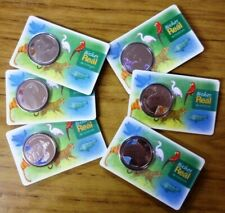 BRAZIL SET x 6 HARD BLISTER COIN Series Bichos do Real (Animals) PRF 2019