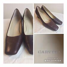 "CARVELA SMART BROWN COURT SHOES Size 38.5 UK 5.5 Leather 2"" Heel Business Work"
