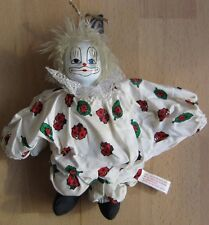Beautiful porcelain doll clown doll collectors rare porcelain head 20 high