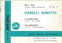 GARELLI BIMATIC 50cc MOPED ILLUSTRATED PARTS BOOK 1969