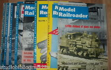 MODEL RAILROADER Lotto di 24 riviste in inglese TRENI LOCOMOTIVE MODELLISMO