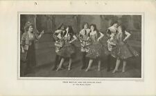 1908 - Irene Bentley and Her Dancing Girls in The Mimic World 7x12 Printed Photo