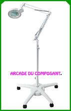 1 LAMPE LOUPE SUR PIED 5 DIOPTRIES AVEC ECLAIRAGE 22W - TATOUEUR TATOUAGE 15,9Kg