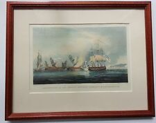 Destruction of the French Frigates L'Arianne&L'Andromache-Sutherland Engraving