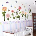 Rose Flower Wall Sticker Removable Mural Diy Art Decal Wall Home Decoration New
