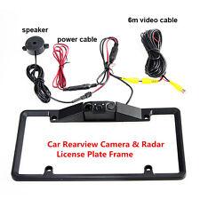 Car Parking Sensor Radar Rearview Backup Camera Night Vision License Plate Frame
