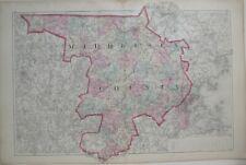 Original 1871 Map MIDDLESEX COUNTY Massachusetts Cambridge Framingham Winchester