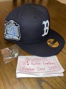 7 1/2 Hat Club Boston Red Sox Icy Blue 99 Patch And Icy Blue UV New