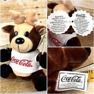 Coca-Cola Bean Bag Plush style 0133 Raindeer in shirt 1997 Animal Plush