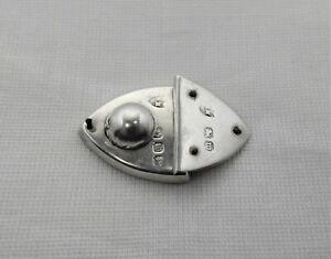 Antique sterling silver case/box clip/fastener c 1896 Birmingham U.K.