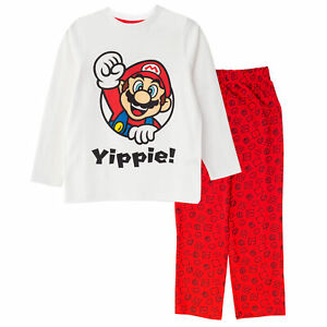 Officiel Enfants Super Mario Youpi Pyjama Long Ensemble Garçons Filles Pyjamas