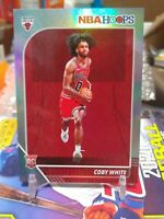 2019-20 NBA Hoops Coby White  SILVER HOLO FOIL SP ROOKIE CARD #/199 RC BULLS