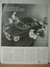1963 MG Car British Motor Corporation Automobile Vintage Print Ad 10493