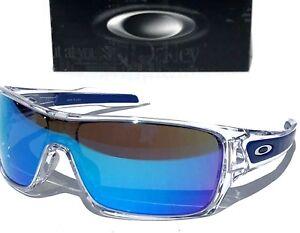 NEW* Oakley TURBINE ROTOR Clear POLARIZED Galaxy Blue Sunglass oo9307
