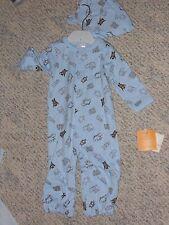 "NWT - Gymboree ""Newborn Essentials"" blue & brown bear outfit & hat - 3-6 mos"