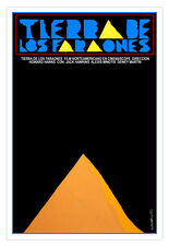 "Cuban movie Poster 4 film""PHARAOH Land""Pyramid Egypt.Egyptology History art"