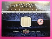 Yankee Stadium Legacy Upper Deck 2008 New York Yankees Game Used Bat Card 1:250