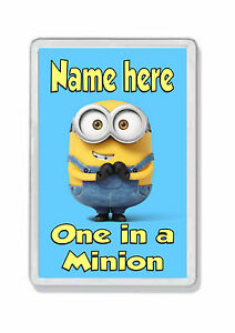 Personalised ' One in a Minion ' Fridge Magnet - Add any name! *Great Gift*