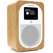 PURE Evoke H3 Portable DAB/FM Bluetooth Clock Radio - Oak