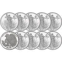 Saint-Gaudens  1oz .999 Silver Medallion by Silvertowne-LOT OF 10