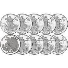 Saint-Gaudens  1oz .999 Silver Medallion by Silvertowne-LOT OF 10