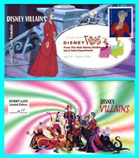 Disney Villains Cinderella, Lady Tremaine First Day Cover with Color Cancel