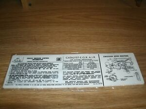 1978 PONTIAC FIREBIRD FORMULA AND TRANS-AM 403 ENGINE EMISSIONS DECAL STICKER HY
