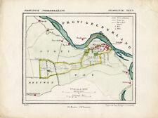 ANTIQUE MAP-NETHERLANDS-VEEN-NOORD BRABANT-KUYPER-1865