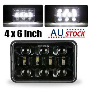 "4x6"" LED Headlight Hi-Lo Sealed Beam Black For Suzuki DRZ400SM DRZ400S DRZ400E"